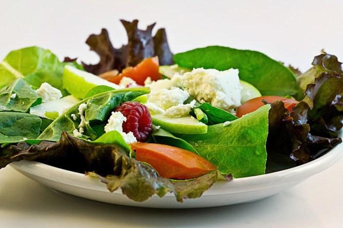 Colourful healthy salad