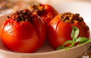 tomate recheado vegano