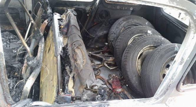 Na Goriškem zagorelo tuje osebno vozilo