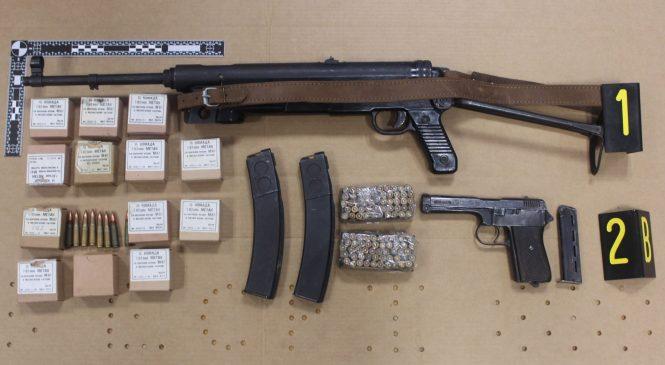 V okolici Metlike med hišno preiskavo zasegli različno orožje, strelivo, konopljo in laboratorij za gojenje konoplje