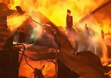Zagorelo v garažni hiši na Goriškem