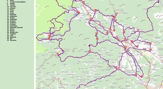 Vozniki bodite pozorni na kolesarje, še posebej na cestah označenih na zemljevidu