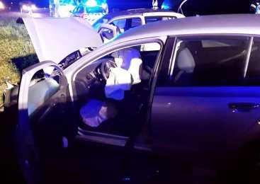 Z 1,74 promila alkohola v krvi, povzročil prometno nesrečo