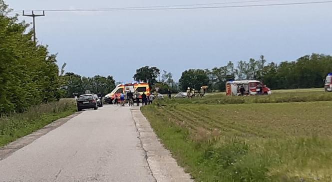 Gančani: V prometni nesreči hudo poškodovan voznik