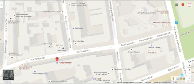 map Paris 5th franco oriental boutique