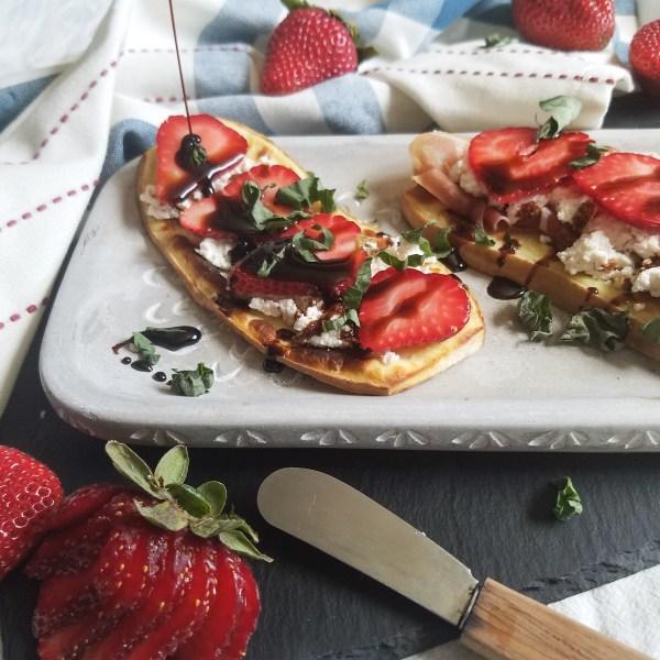 strawberry tartine