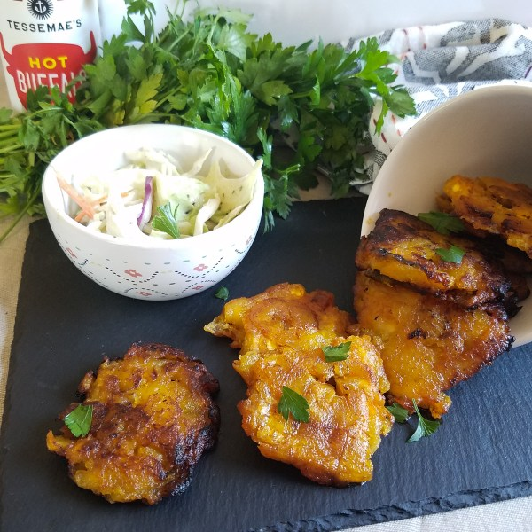 fried buffalo tostones