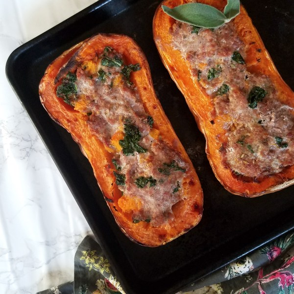 butternut squash and sausage bake