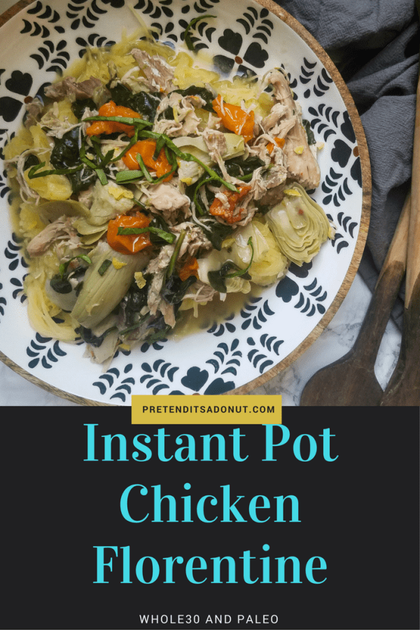 instant pot chicken florentine