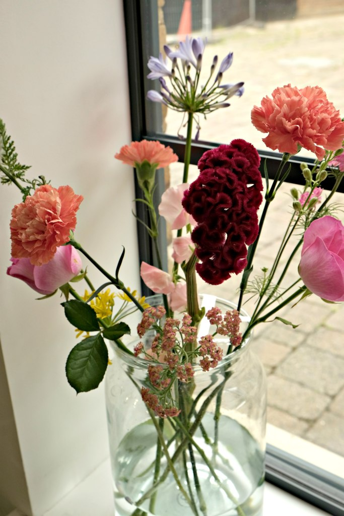 A close up of lovely flowers from the day.  Teapigs Tea School Day.