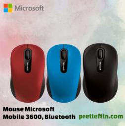 Mouse Microsoft Mobile 3600, Bluetooth, Rosu, Albastru sau Negru pareri dar si cel mai bun