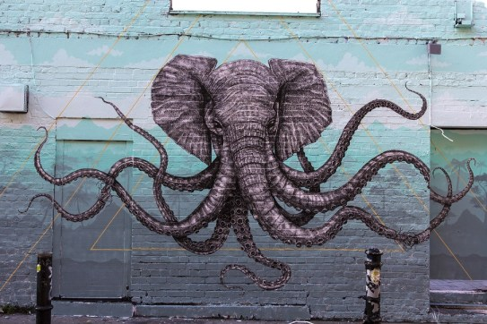 Octophant Mural by Alexis Diaz