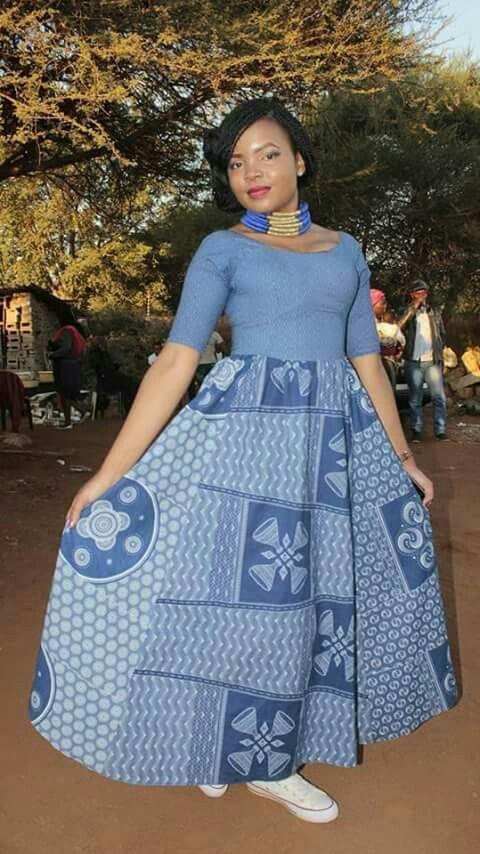 LESOTHO SHWESHWE DRESSES STYLES 2019