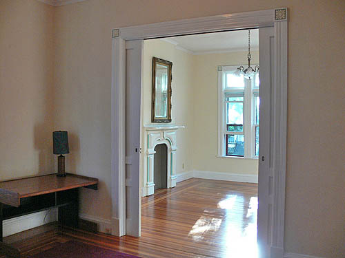 Double Parlor of Victorian Apartment Schenectady NY