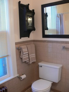Bathroom with Antique Cabinet Schenectady NY