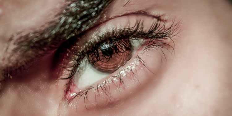 human eye close up photography