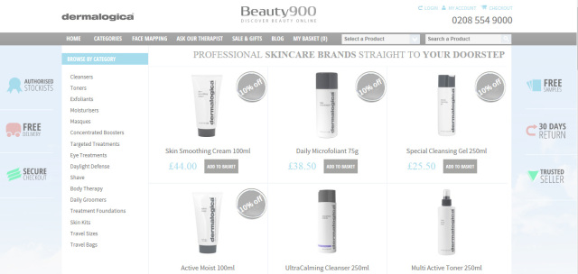http://beauty900.co.uk/ Dermalogica Stockist