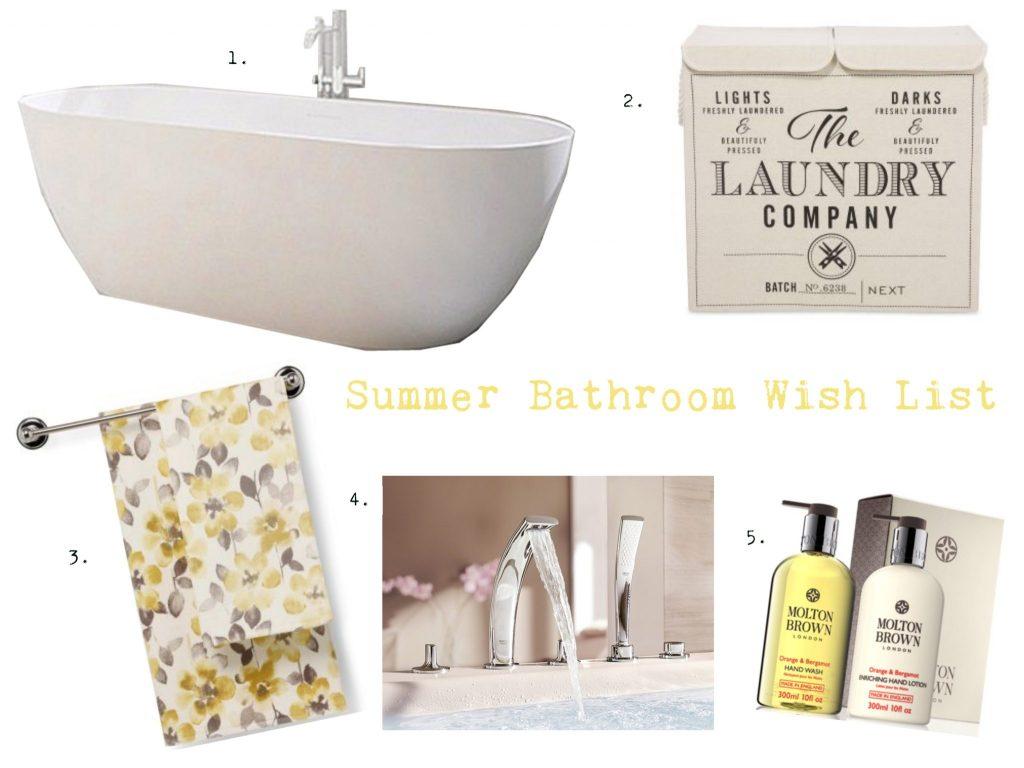 Summer Bathroom Wish List