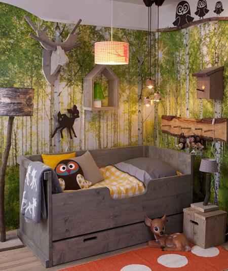 Foresthills Bedroom Large2: How To Create A Forest Themed Bedroom For Your Child