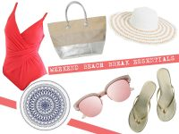 Weekend beach break essentials