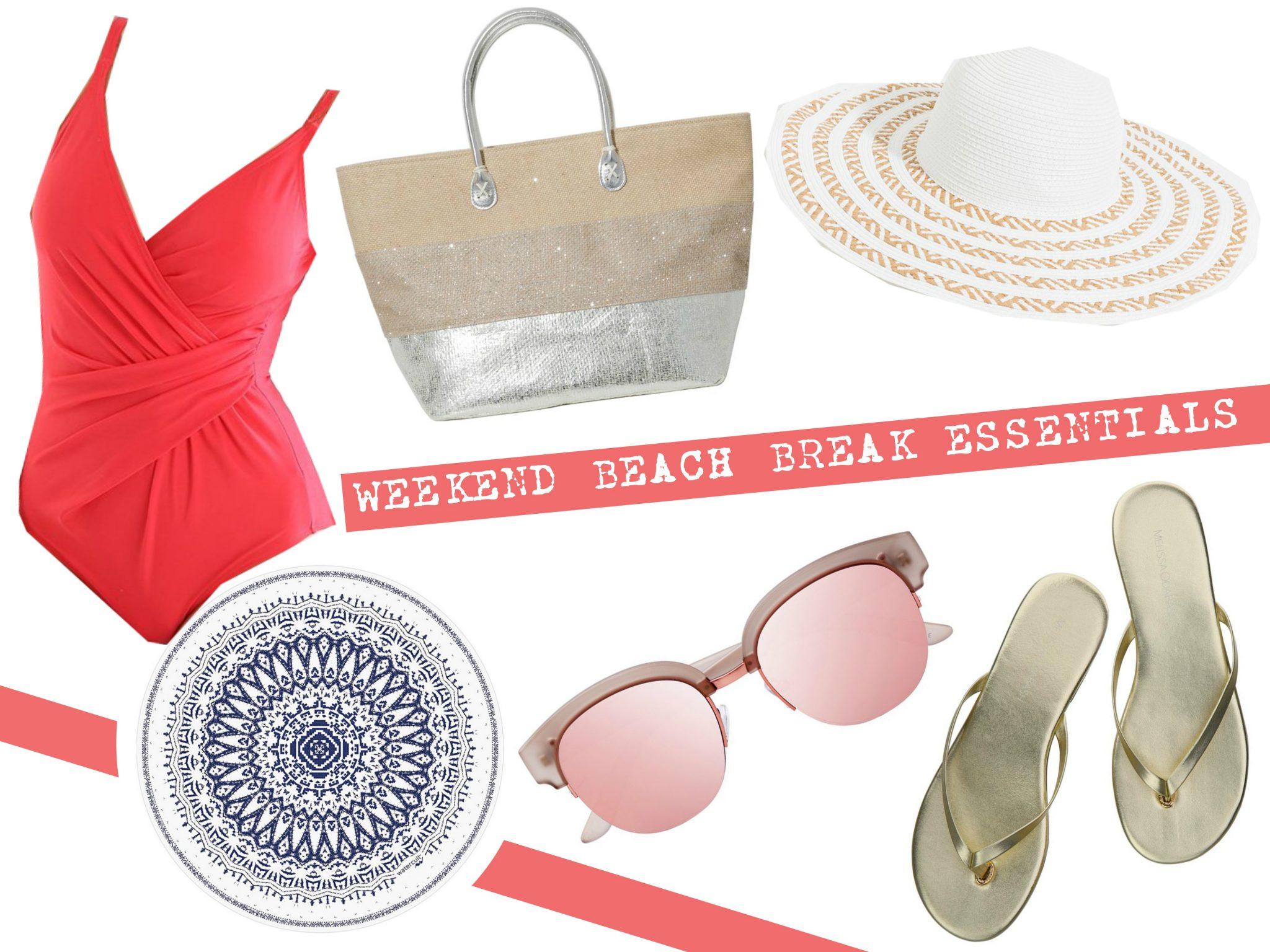 Weekend beach break essentials