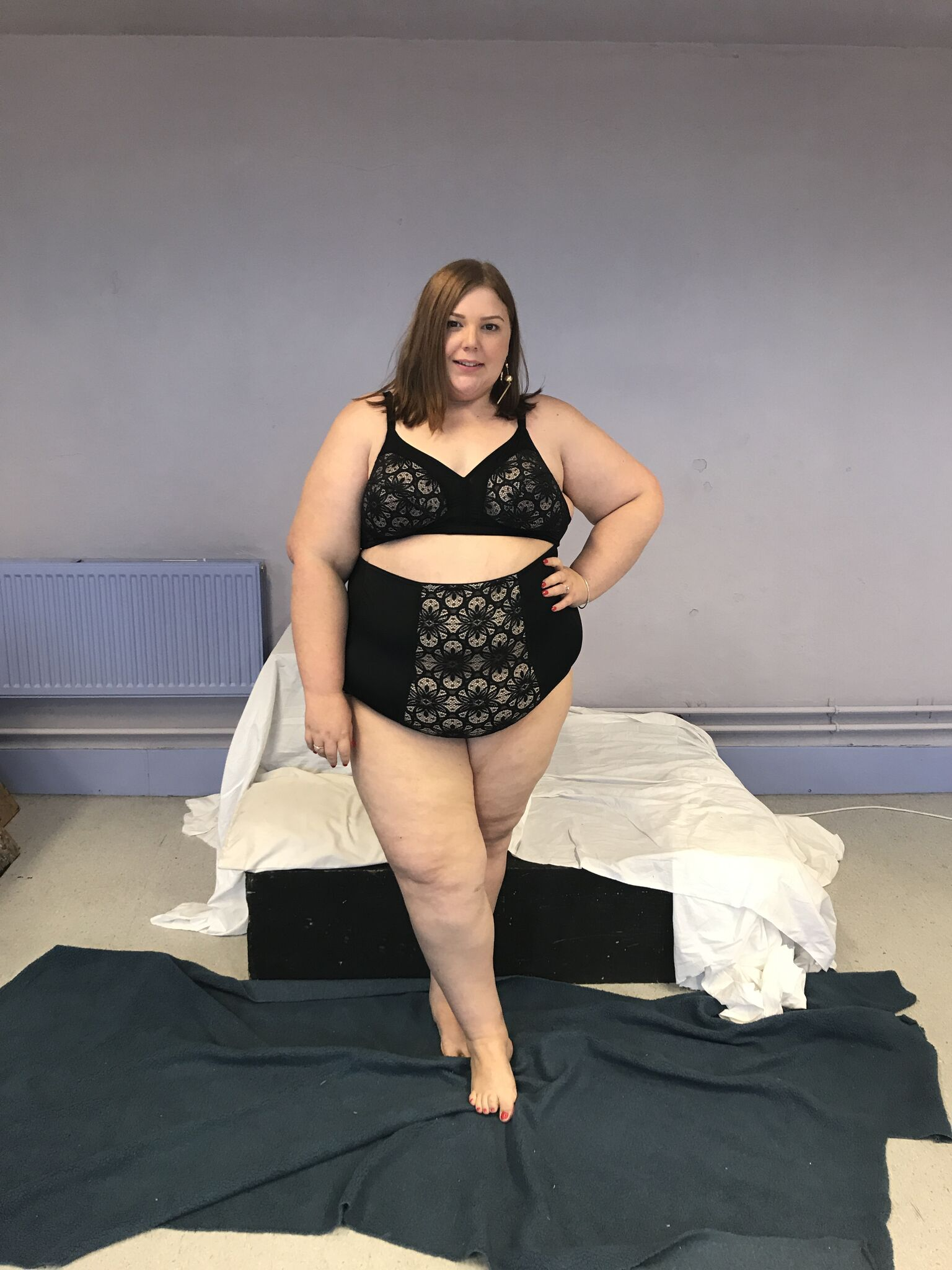 Plus size Lingerie - pretty big butterflies