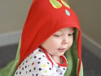 baby hooded towel review - pretty big butterflies