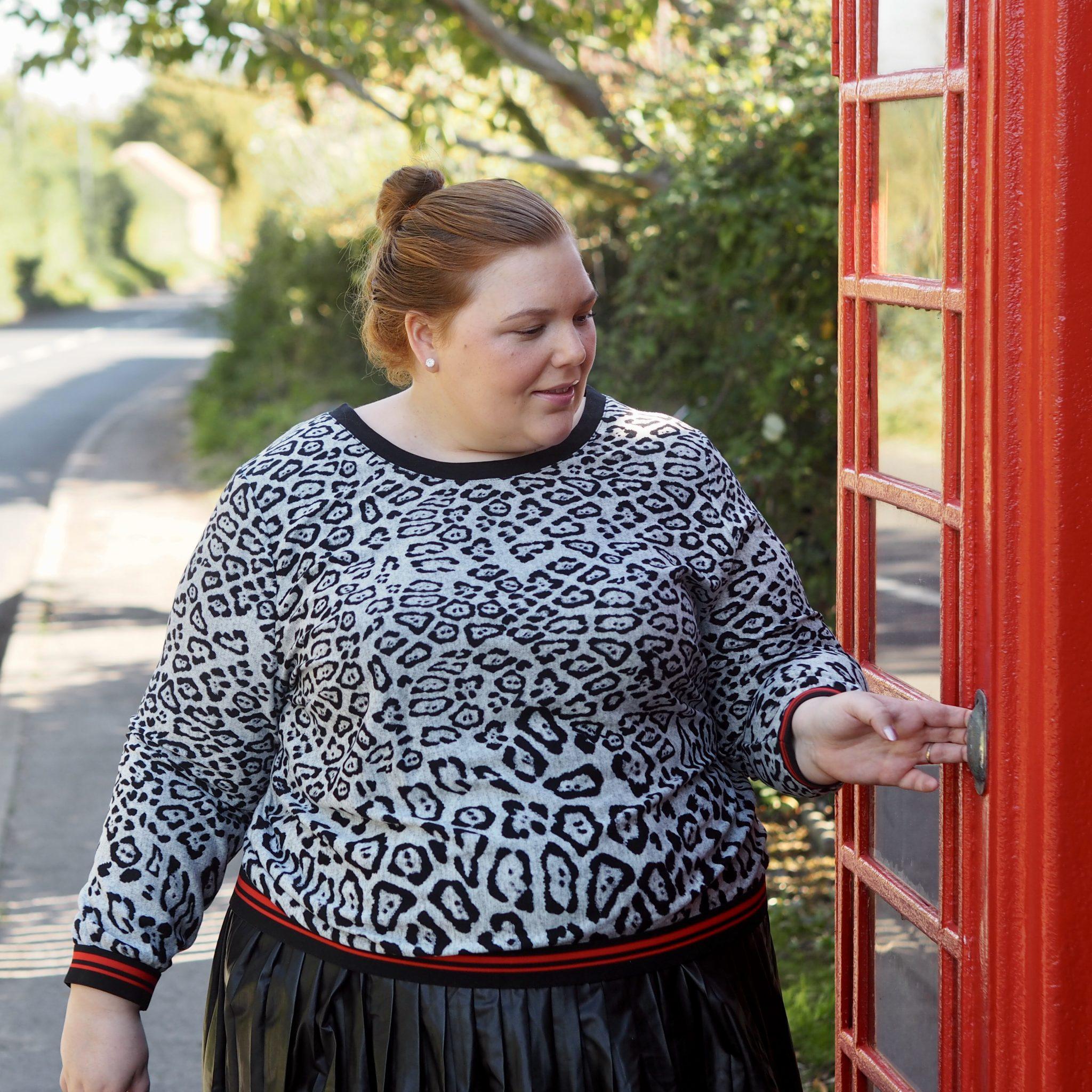 How to wear leopard print - pretty big butterflies
