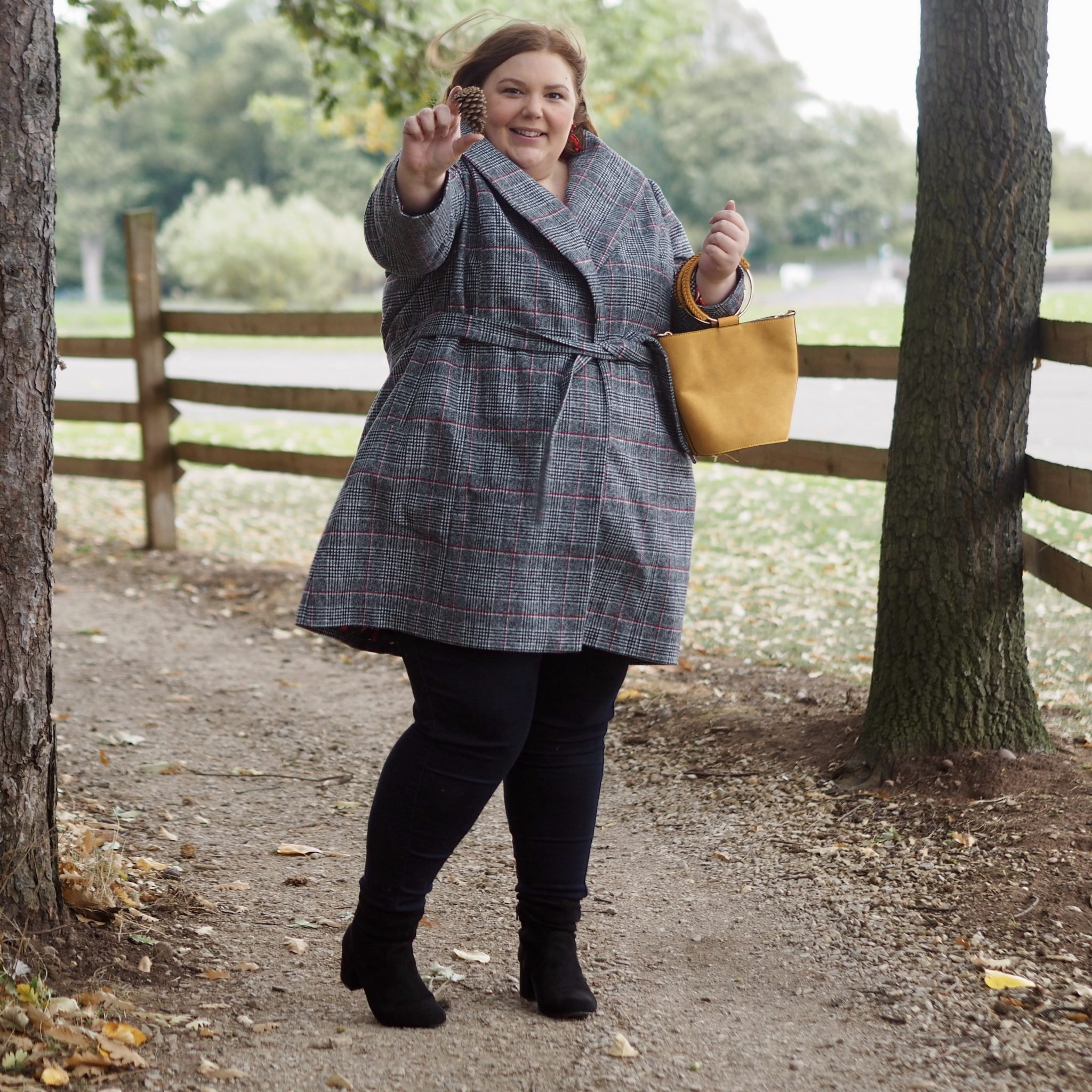 plus size autumn and winter coats - pretty big butterflies