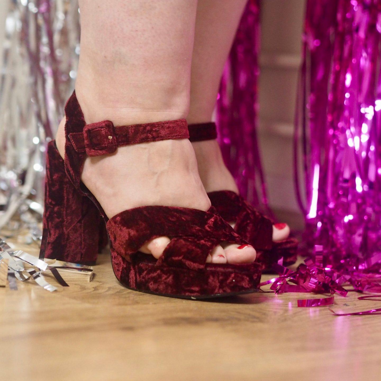 comfortable wide fit heels - pretty big butterflies