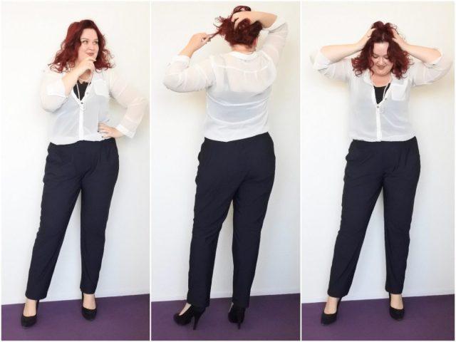 Doorzichtige, witte blouse