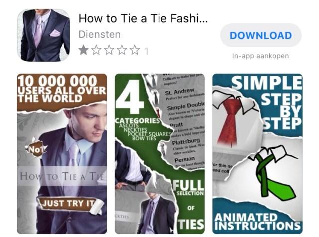 De beste apps voor het knopen van je stropdas