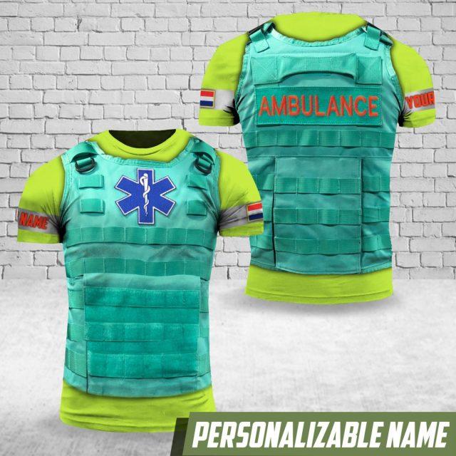nagemaakt ambulance shirt steekwerend vest