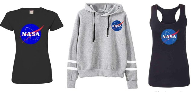 Net bedrijfskleding: rondlopen met het NASA-logo