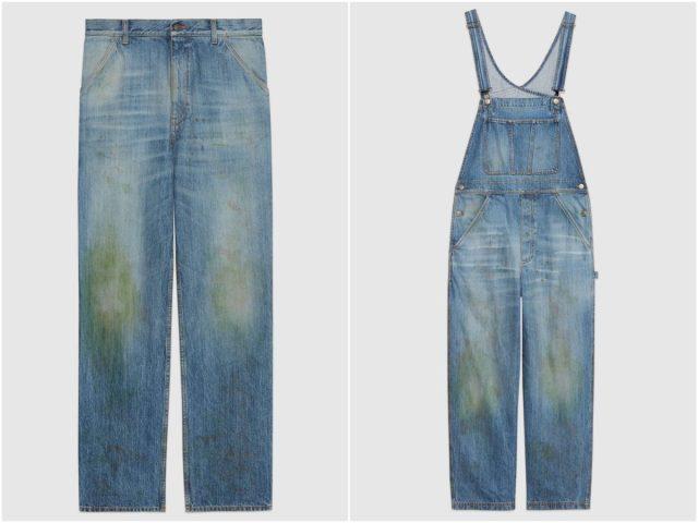 Fake Workwear: de grasvlekkenbroek van Gucci