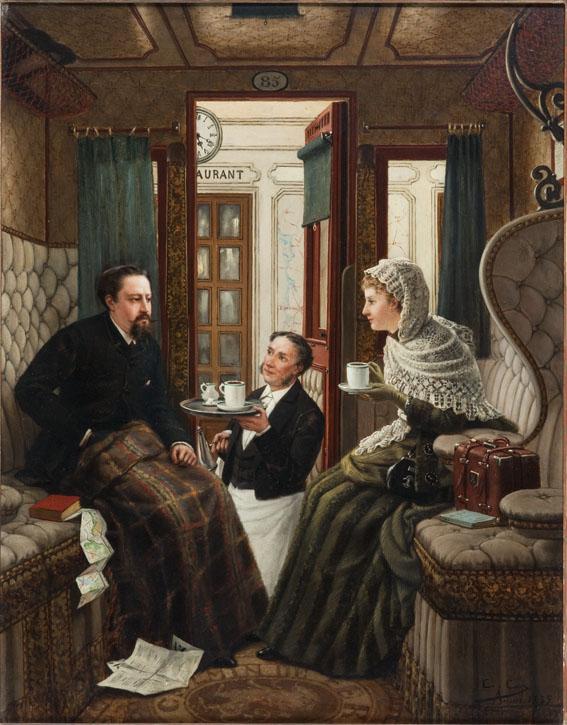 Schilderij De huwelijksreis | Constant Cap (1885) | Afbeelding: Spoorwegmuseum