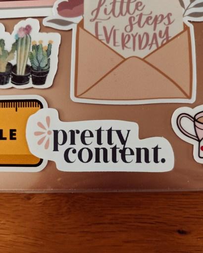 Small Pretty Content custom logo sticker