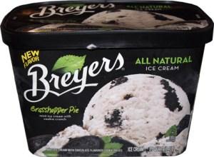 breyers grasshopper pie ice cream container