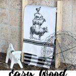 Diy Farmhouse Tea Towel Ladder For The Kitchen