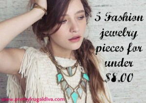 5 jewelry pieces for under 8