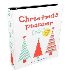 Christmas planner cover