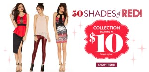 Charlotte Russe 50 shades of red