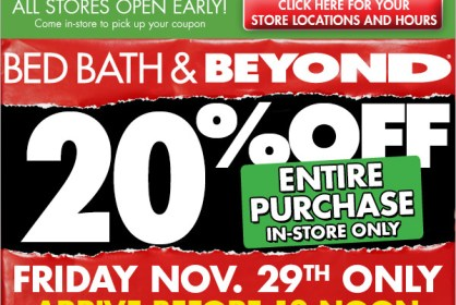 bed bath and beyond black friday 2013