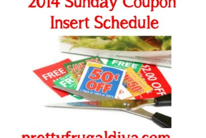 2014 sunday coupon insert schedule