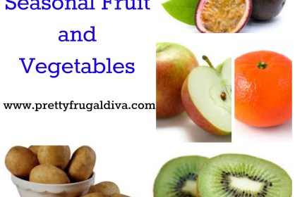January Seasonal Fruit and Vegetables