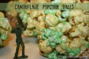 Camouflage Popcorn Ball Recipe