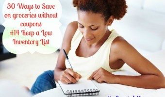 30 Ways to Save Without Coupons – #14 Have a Low Inventory List