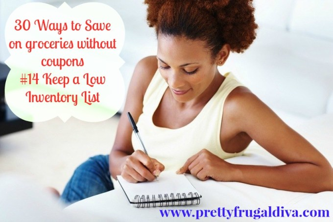 keep a low inventory list