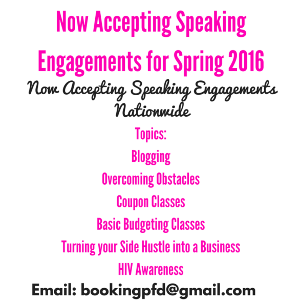 Now Accepting speaking engagements