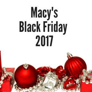 Macy's Black Friday 2017